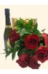 Buchet Trandafiri Rosii cu Bottega Prosecco si praline Ferrero Rocher